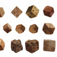Roman-era ivory dice (photo credit: Courtesy of The Temple Mount Sifting Project)