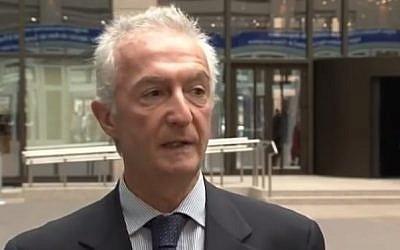 EU anti-terror chief Gilles de Kerchove (photo credit: Youtube screenshot)