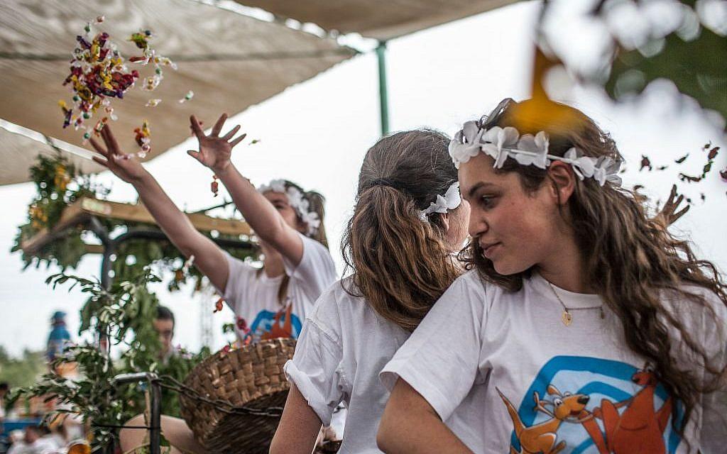 A Shavuot celebration at Kibbutz Tzuba, near Jerusalem (photo credit: Noam Moskowitz/Flash 90)