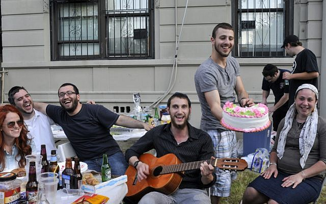 American Jews at a party in Brooklyn, New York, on June 17, 2013. (photo credit: Serge Attal/Flash90)