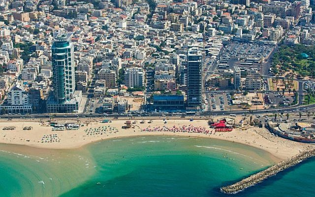 The stretch of beach near the Dolphinarium, where Jerusalemites can now spend their Fridays (photo credit: Moshe Shai/Flash 90)