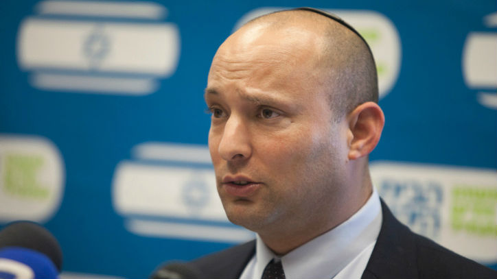 Economy Minister Naftali Bennett, leader of the Jewish Home party, seen in the Knesset, June 09, 2014. (photo credit: FLASH90)