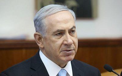 Prime Minister Benjamin Netanyahu, speaks during the weekly cabinet meeting, Sunday June 22, 2014. (photo credit: Marc Israel Sellem/Flash90)