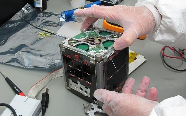A nano-satellite made in Israel (photo credit: CC BY-SA Royroy903 Wikimedia Commons)