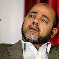 Senior Hamas leader Moussa Abu Marzouk (AP Photo/Hatem Moussa)