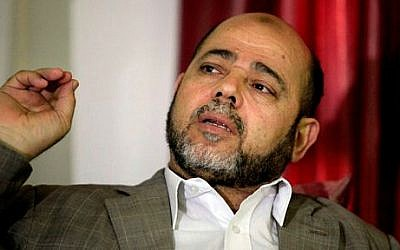 Senior Hamas leader Moussa Abu Marzouk (photo credit: AP Photo/Hatem Moussa)
