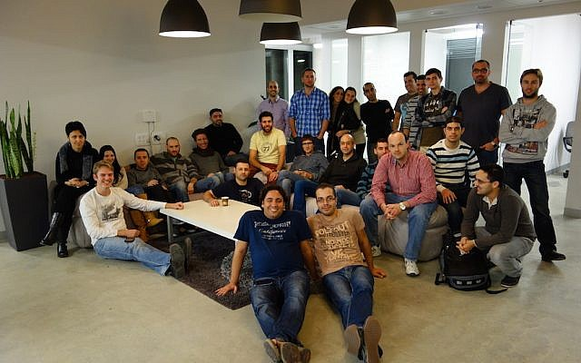 The ironSource team at its Tel Aviv headquarters (Courtesy)