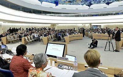 The Human Rights Council in Geneva (UN/Jean-Marc Ferré)