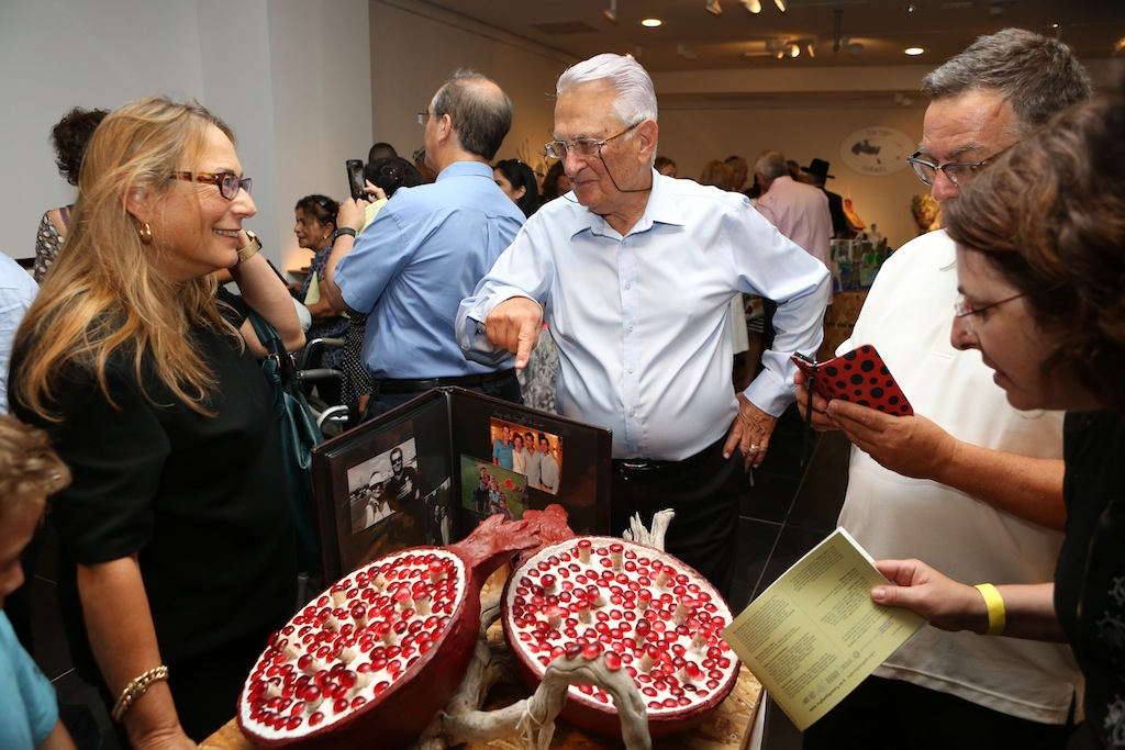 Yanai Ben Zvi, also from San Diego, used a pomegranate motif in his project. (photo credit: photo by Nir Shaani)