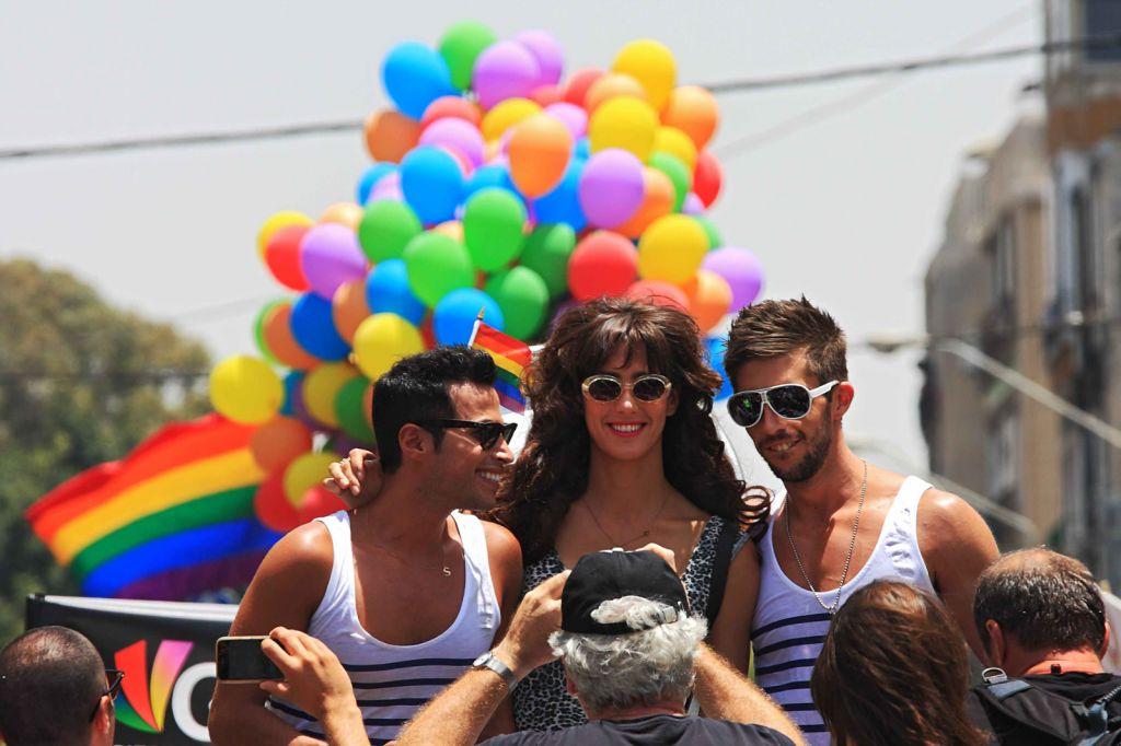 Revelers at Tel Aviv Pride. Pride Revelers via Shutterstock.