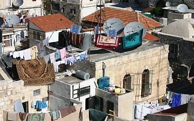 The rooftops of the Old City's Muslim Quarter (photo credit: Shmuel Bar-Am)