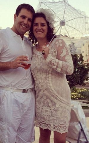 Ruth Waiman with her husband Steven Friedland at the event. (photo credit: courtesy Ruth Waiman)