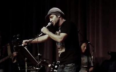 Iranian rapper Shahin Najafi (photo credit: Youtube screenshot)