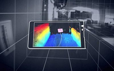 A device equipped with Tango technology renders a scene into 3D (Photo credit: Courtesy)