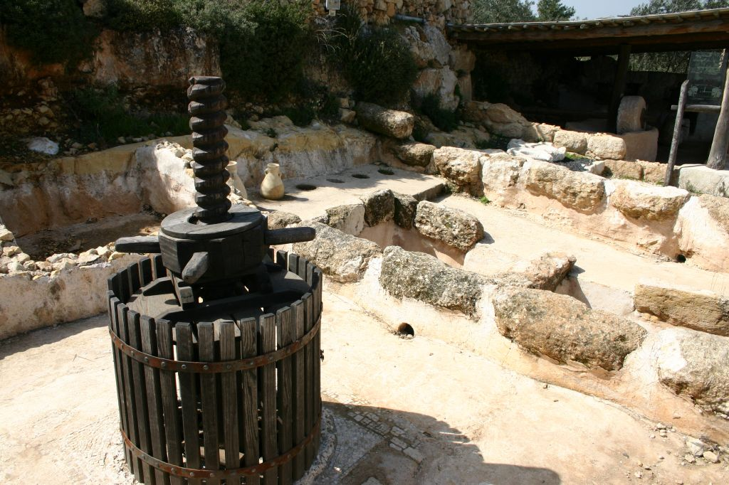 A wine press at Yad Hashmona (photo credit: Shmuel Bar-Am)