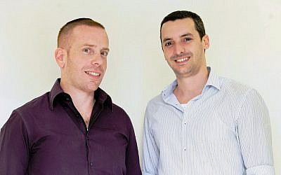 Ofer Sinai (L) and David Mezuman (Photo credit: Courtesy)