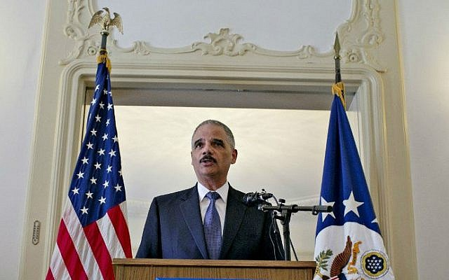 US attorney general Eric Holder. (photo credit: AFP/NTB scanpix/Anette Karlsen/NORWAY OUT)