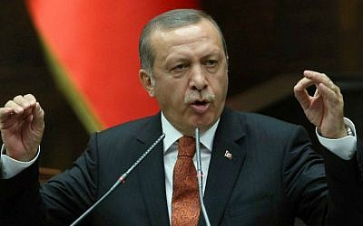 Turkey's Recep Tayyip Erdogan on July 15, 2014. (photo credit: AFP/Adem Altan)