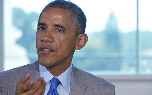 US President Barack Obama in the White House, Washington, July 7, 2014. (photo credit: AFP/Mandel NGAN)