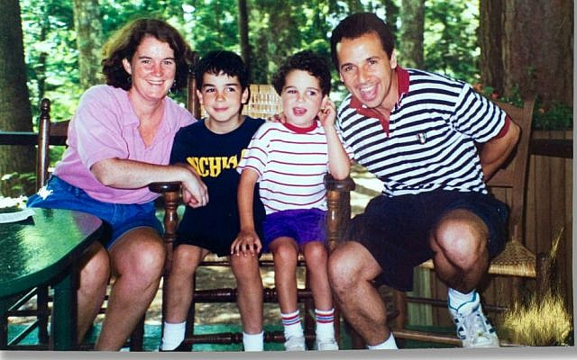 Cornelia and Ron Suskind with their sons Walter and Owen before they discovered the full power of Disney affinity therapy. (Courtesy)