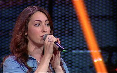 Sara Merson, a contestant on this season of 'The Voice' showed her support for Israel and her adopted city of Ashdod in a music video. (Courtesy)