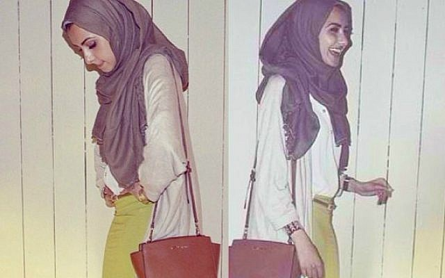 "This photo of blogger ""Hipster Hijabis"" wearing a Mimu Maxi skirt set off a firestorm. (Courtesy)"