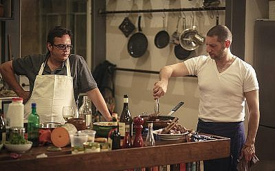Chefs Kamel Hashlamon and Assaf Granit were planning on starting a new culinary conversation about precise Palestinian food, part of last season's Jerusalem Season of Culture (Courtesy Jerusalem Season of Culture)