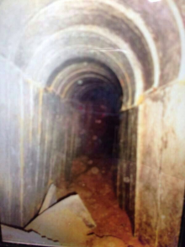 A Hamas tunnel, photographed by Israeli soldiers on Friday, July 18, 2014. (photo credit: IDF Spokesperson)
