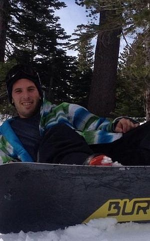 Steinberg had the number 13, his Golani brigade number, stamped on the bottom of his snowboard (Courtesy Max Steinberg Facebook page)