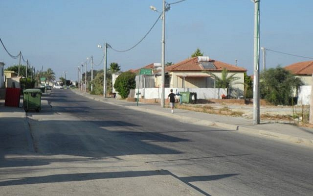 The streets of Nitzan were nearly empty on Sunday as families left for safer and quieter areas of the country.