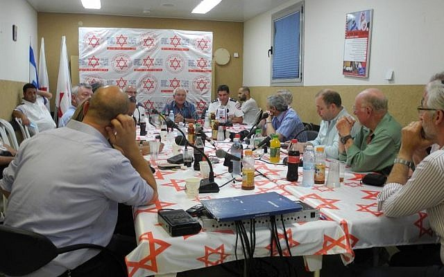 The Labor, Welfare and Health Committee held a solidarity meeting with Magen David Adom in Ashdod on Wednesday. (Melanie Lidman/Times of Israel)