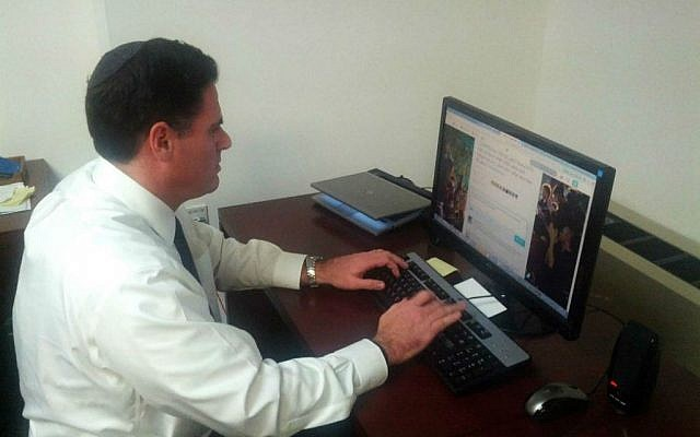 Israeli Ambassador to Washington Ron Dermer engages in an intense Twitter Q&A on Thursday July 17, 2014. (courtesy: Israeli Embassy)