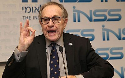 Professor Alan Dershowitz participated in a panel discussion at the Institute for National Security Studies in Ramat Aviv on December 11, 2013. (Gideon Markowicz/Flash90)