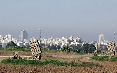 Iron Dome missile defense batteries near the southern town of Ashdod. File photo (Photo credit: Flash90)