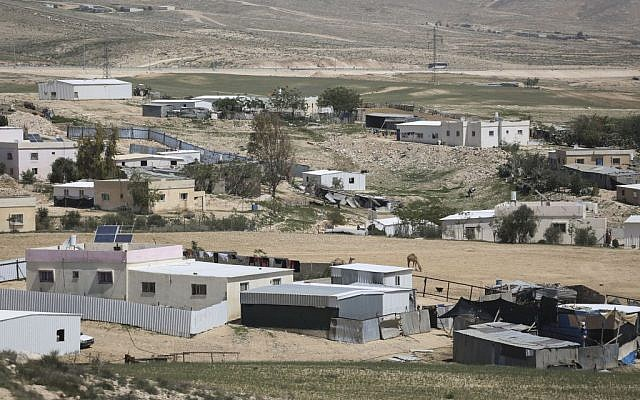 A Bedouin community in the Negev Desert, April 1, 2014 (photo credit: Hadas Parush/Flash90)