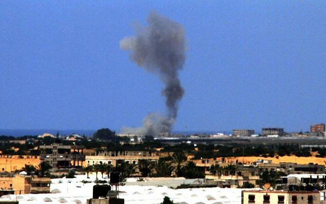 The aftermath of an Israeli air strike in the Gaza Strip, file photo (Photo credit: Abed Rahim Katib/Flash90)