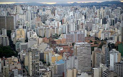 A bird's-eye view of Sao Paulo, Brazil (Gili Yaari/Flash90)