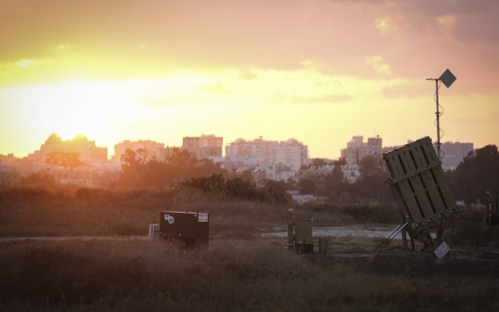 The Iron Dome Missile Defense battery near the southern city of Ashdod, July 14, 2014. (photo credit: Hadas Parush/Flash90)