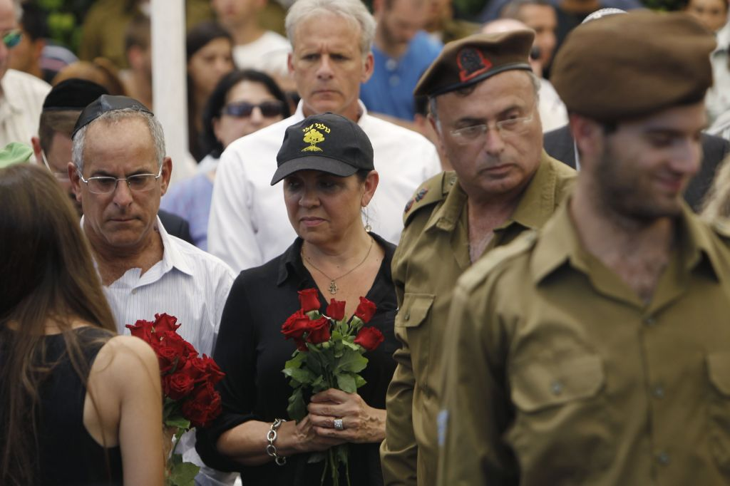 Max Steinberg's parents made their first trip to Israel to bury their son, a lone soldier (photo credit: Miriam Alster/Flash 90)