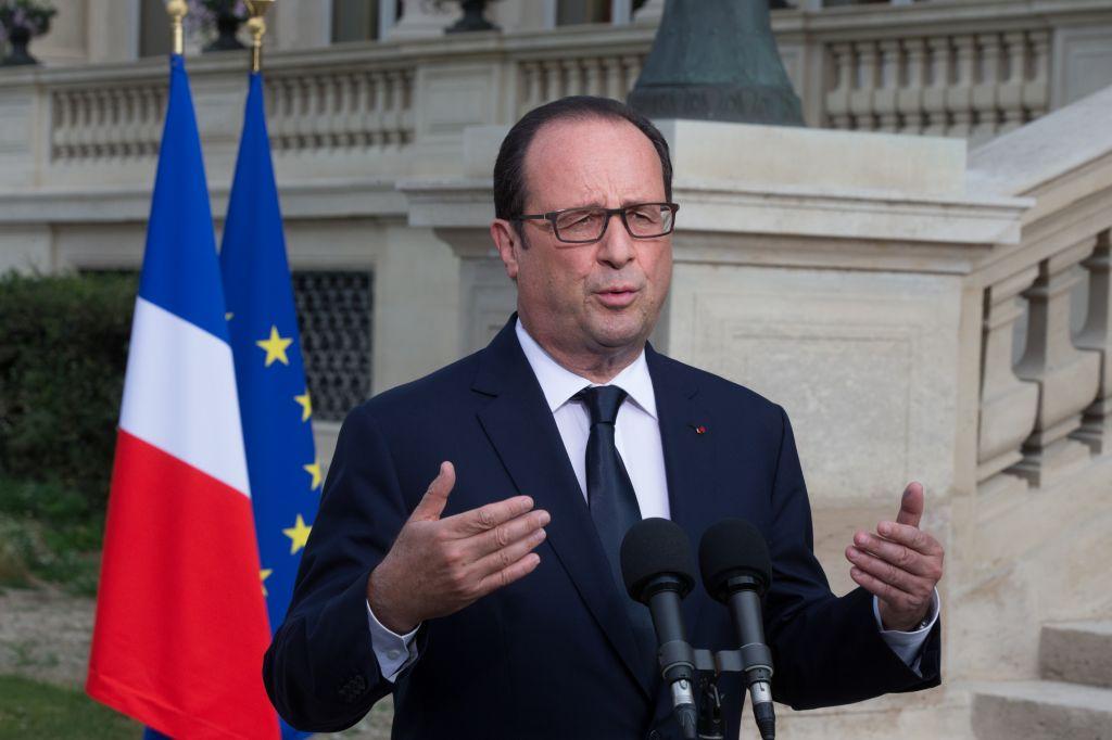 French President Francois Hollande (photo credit: AP/Philippe Wojazer, Pool)