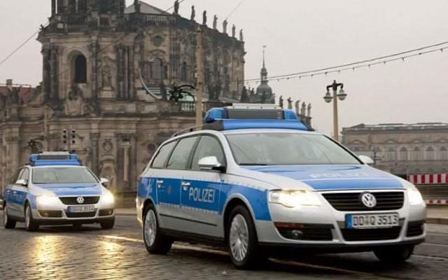 Illustrative image of German police cars. (screen capture: YouTube/ VanochCZ)