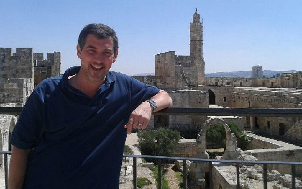 Lynchburg, Virginia mayor Michael Gillette tours Jerusalem as part of his Hebrew language studies. (Courtesy)