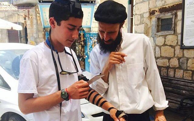 Nathan Saldinger, 16, in Safed. (courtesy)