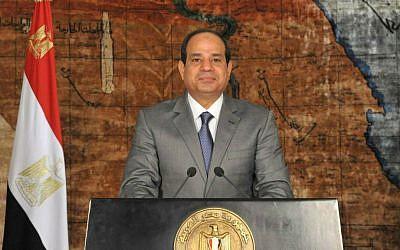 Egyptian President Abdel-Fattah el-Sissi. (AP Photo/Ahmed Fouad, MENA)