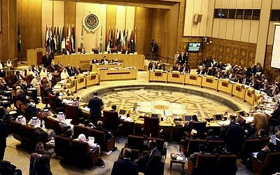 Arab foreign ministers meet at the Arab League building in Cairo, Egypt, July 2014. (AP Photo/Ahmed Gomaa)