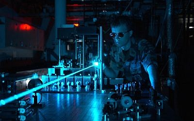 Laser beam production (Courtesy USAF)