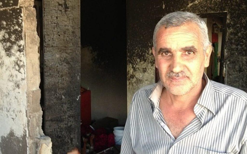 Muhammad Abu Aysha, uncle of suspected kidnapper Amer Abu Aysha (photo credit: Elhanan Miller/Times of Israel)