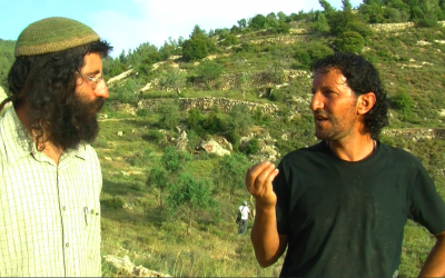 Shaul David Judelman and Ali Abu Awwad, two activists from the West Bank, are working together to plan Choosing Life, a joint fast day on Tuesday, July 15 (Courtesy A Third Way - Settlers and Palestinians as Neighbors)
