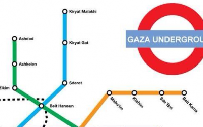 Spoofing the London Underground subway map with a Gaza version (Courtesy Imgur)