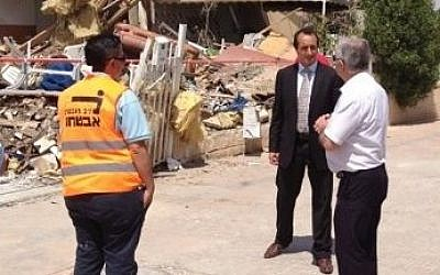 Australian Ambassador Dave Sharma in Beersheba, July 15, 2014. (Photo credit: Courtesy of the Australian embassy)
